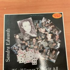 Discos de vinilo: SANDRA EDWARDS - THE WINNER TAKES IT ALL. Lote 254747285