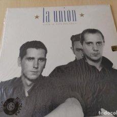 Discos de vinilo: LA UNION (LP) VIVIR AL ESTE DEL EDEN AÑO 1988 – ENCARTE CON LETRAS BUEN ESTADO. Lote 254751165