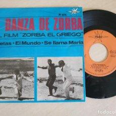Discos de vinilo: ORQUESTA MARFER - LA DANZA DE ZORBA / SILUETAS / EL MUNDO / SE LLAMA MARIA - EP DE 1965. Lote 254766055