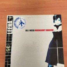 Discos de vinilo: LEENA - ALL I NEED / MOONLIGHT SHADOW. Lote 254766400