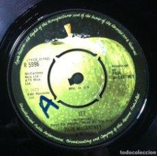 Discos de vinilo: PAUL MCCARTNEY & WINGS - JET / LET ME ROLL IT - SINGLE UK 1973 - APPLE. Lote 254767805
