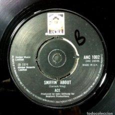 Discos de vinilo: ACE - HOW LONG / SNIFFIN' ABOUT - SINGL UK 1974 - ANCHOR. Lote 254769450