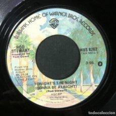 Discos de vinilo: ROD STEWART - TONIGHT'S THE NIGHT / FOOL FOR YOU - SINGLE USA 1976 - WARNER. Lote 254775315