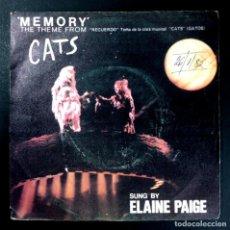 Discos de vinilo: ELAINE PAIGE - MEMORY / OVERTURE - SINGLE 1981 - POLYDOR. Lote 254778560