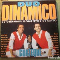 Discos de vinilo: DÚO DINÁMICO GUATEQUE (30 GRANDES MOMENTOS DE EXITO). Lote 254786290