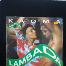 Discos de vinilo: MAXI 1989 ESPAÑA, KAOMA - LAMBADA, IMPECABLE CON PARTE DEL PRECINTO AÚN. Lote 254786395