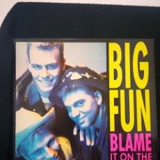 """Discos de vinilo: MAXI BIG FUN - BLAME IT ON THE BOOGIE (12"""", MAXI)1989 ESPAÑA, IMPECABLE. Lote 254789380"""