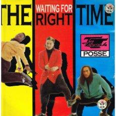 Discos de vinilo: T.T. FRESH POSSE - (WAITING FOR) THE RIGHT TIME - MAXI SINGLE 1991 - ED. ALEMANIA. Lote 254789620