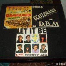 Discos de vinilo: LOTE 3 SINGLES COVERS BEATLES. Lote 254790485