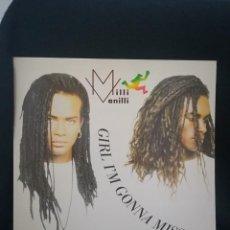 Discos de vinilo: MAXI MILLI VANILLI - GIRL I'M GONNA MISS YOU, 1989 ESPAÑA, IMPECABLE. Lote 254790810