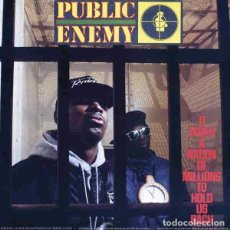 Discos de vinilo: PUBLIC ENEMY IT TAKES A NATION OF MILLIONS TO HOLD US BACK (LP) . HIP HOP VINILO. Lote 254795805