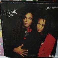 Discos de vinilo: MILLI VANILLI / ALL OR NOTHING - LP. SELLO ARIOLA 1988. Lote 254795915