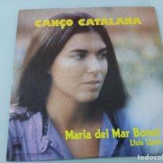 Discos de vinilo: LLUIS LLACH Y MARIA DEL MAR BONET - CANÇO CATALANA...LP DE ARIOLA 1977 - BUEN ESTADO. Lote 254802515