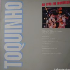 Discos de vinilo: TOQUINHO AO VIVO EN MONTREUX LP SELLO BARCLAY EDITADO EN BRASIL.... Lote 254807720