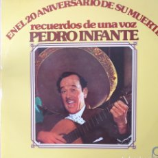 Discos de vinilo: PEDRO INFANTE LP DOBLE 2 DISCOS SELLO PEERLESS AÑO 1977 EDITADO EN ESPAÑA.... Lote 254808375