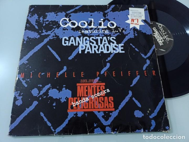 MICHELLE PFEIFFER - MENTES PELIGROSAS - BANDA SONORA ..MAXISINGLE - COOLIO FEATURING L.V (Música - Discos de Vinilo - Maxi Singles - Bandas Sonoras y Actores)