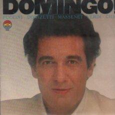 Discos de vinilo: DOMINGO! - PUCCINI, VERDI, CILEA, DONIZETTI, MASSENET / LP DBS 1981 / BUEN ESTADO RF-9474. Lote 254811440