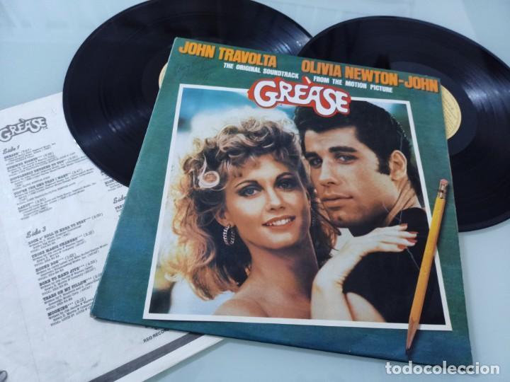 GREASE - JOHN TRAVOLTA & OLIVIA NEWTON JOHN. .2.LP´S - PORTADA ABIERTA RSO 1978 EDICION ORIGINAL (Música - Discos - LP Vinilo - Bandas Sonoras y Música de Actores )