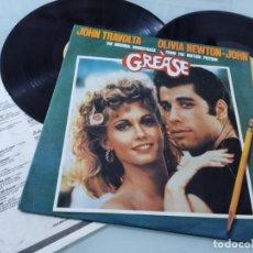 Discos de vinilo: GREASE - JOHN TRAVOLTA & OLIVIA NEWTON JOHN. .2.LP´S - PORTADA ABIERTA RSO 1978 EDICION ORIGINAL. Lote 254815540