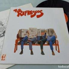 Discos de vinilo: THE REFRESCOS - AQUÍ NO HAY PLAYA - GRUPO ESPAÑOL - PRIMER LP DE 1989 - POLYDOR CON LETRAS. Lote 254819930