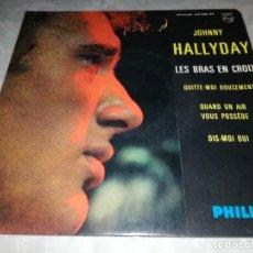 Discos de vinilo: JOHNNY HALLYDAY-LES BRAS EN CROIX. Lote 254823035