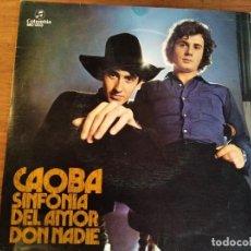 Discos de vinilo: CAOBA - SINFONÍA DE AMOR ***** RARO SINGLE 1972 GRAN ESTADO. Lote 254826770