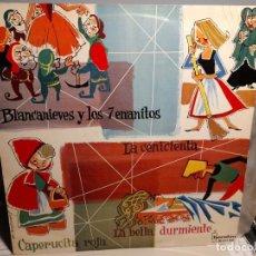 Discos de vinilo: LP MIS CUENTOS FAVORITOS : CAPERUCITA ROJA + BLANCA NIEVES + LA CENICIENTA + LA BELLA DURMIENTE. Lote 254829325