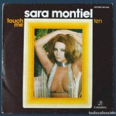 Discos de vinilo: VINILO SINGLE 45 RPM DE SARA MONTIEL: TOUCH ME / TEN. COLUMBIA, 1975.. Lote 254839645