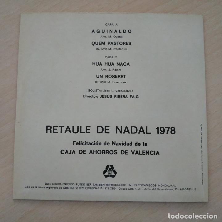 Discos de vinilo: RETAULE DE NADAL 1978 - ORFEON NAVARRO REVERTER - EP (4 TEMAS) EN EXCELENTE ESTADO, COMO NUEVO - Foto 2 - 254844590