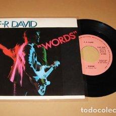 Discos de vinilo: F.R. DAVID - WORDS - SINGLE - 1982. Lote 254844615