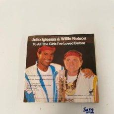 Discos de vinilo: JULIO IGLESIAS & WILLIE NELSON. Lote 254844750