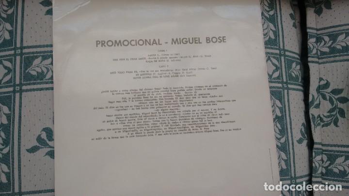 Discos de vinilo: MAXI-SINGLE (VINILO)-PROMOCION- DE MIGUEL BOSE AÑOS 70 (MUY RARO) - Foto 2 - 254859465
