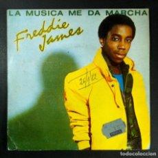 Discos de vinilo: FREDDIE JAMES - MUSIC TAKES ME HIGHER / SHE'S A LADY - SINGLE 1981 - DREYFUS. Lote 254870385