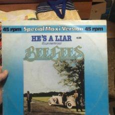 Discos de vinilo: BEE GEES SPECIAL MAXI VERSION . 45 RPM . SPAIN .. Lote 254890545