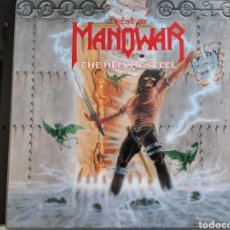 Discos de vinilo: THE BEST OF MANOWAR THE HELL OF STEEL. Lote 254899235