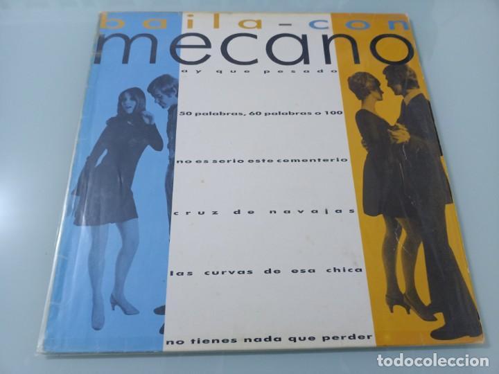 MECANO - BAILA CON MECANO ..MAXISINGLE - PROMOCIONAL DE 1986 - LABEL BLANCO - MUY DIFICIL (Música - Discos de Vinilo - Maxi Singles - Grupos Españoles de los 70 y 80)