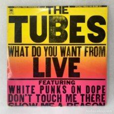 Discos de vinilo: LP- VINILO THE TUBES - WHAT DO YOU WANT FROM LIVE - DOBLE PORTADA - DOBLE LP - ESPAÑA - AÑO 1978. Lote 254902175