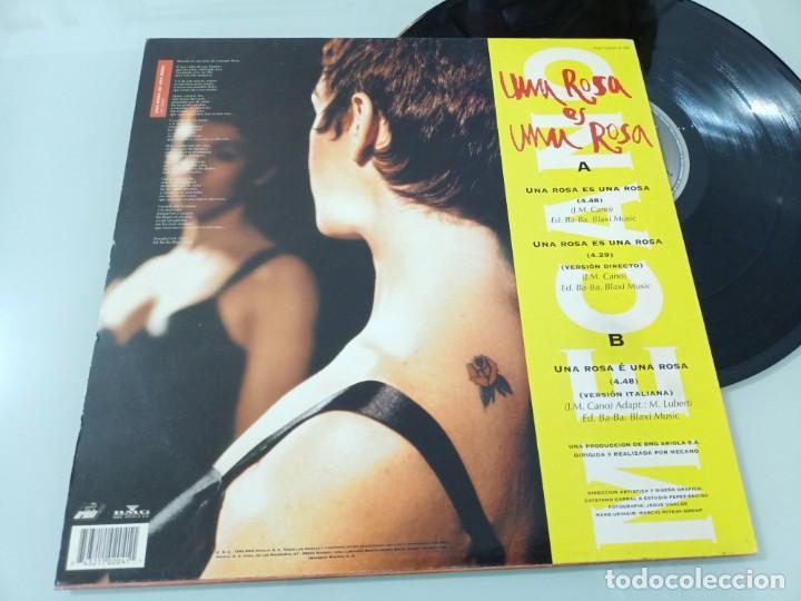 Discos de vinilo: MECANO - UNA ROSA ES UNA ROSA ..MAXISINGLE DE 1992 - INCLUYE VERSIÓN ITALIANA Y EN VIVO - Foto 2 - 254903325