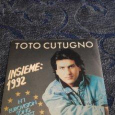 Dischi in vinile: SINGLE VINILO EUROVISION 92 - TOTO CUTUGNO - INSIEME 1992. Lote 254905055