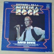 Discos de vinilo: DAVID BOWIE - HISTORIA DE LA MUSICA ROCK- DECCA 1981 9-LP-002 MUY BUENAS CONDICIONES. Lote 254907505