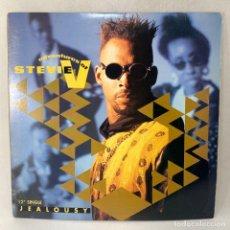 Discos de vinilo: MAXI SINGLE ADVENTURES OF STEVIE V - JEALOUSY - ESPAÑA - AÑO 1984. Lote 254907660