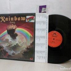 Discos de vinilo: RAINBOW. --RISING--POLYDOR--MADE IN HOLLAN--1976--. Lote 254909925