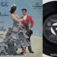 Disques de vinyle: ÑIÑA DE LA PUEBLA Y LUQUITAS DE MARCHENA / MANUEL VALLEJO - EP DE VINILO #. Lote 254912615