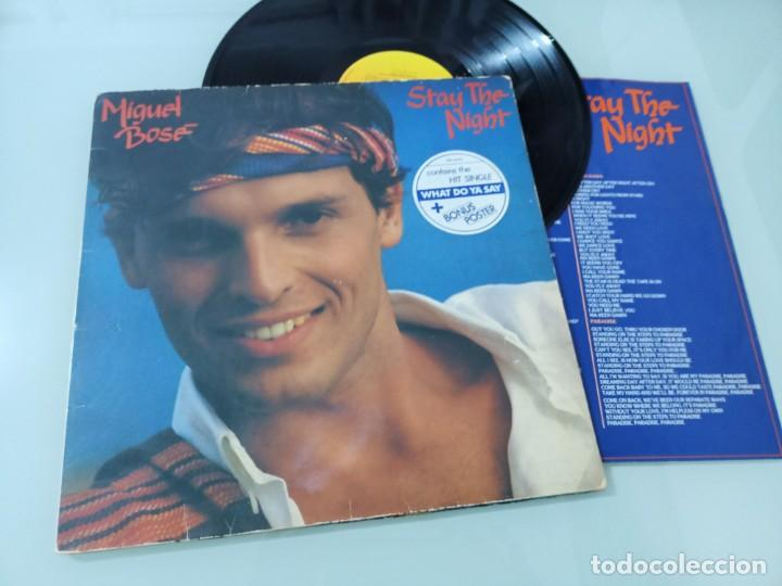 MIGUEL BOSE - STAY THE NIGHT ..LP - VERSION EN INGLES DEL LP MAS ALLA DE 1981 CBS CON LETRAS (Música - Discos - LP Vinilo - Solistas Españoles de los 70 a la actualidad)