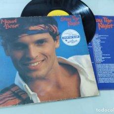Discos de vinilo: MIGUEL BOSE - STAY THE NIGHT ..LP - VERSION EN INGLES DEL LP MAS ALLA DE 1981 CBS CON LETRAS. Lote 254913010