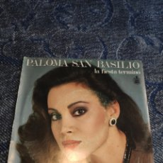 Dischi in vinile: SINGLE VINILO EUROVISION - PALOMA SAN BASILIO - LA FIESTA TERMINÓ. Lote 254917070