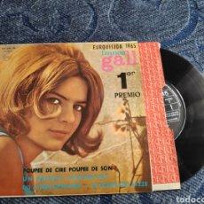 Disques de vinyle: SINGLE VINILO EUROVISION 65 - FRANCE GALL - POUPEE DE CIRE POUPEE DE SON - EP. Lote 254928165