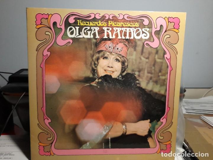 LP OLGA RAMOS : RECUERDOS PICARESCOS ( CON DEDICATORIO FIRMADA POR LA ARTISTA ) (Música - Discos - LP Vinilo - Flamenco, Canción española y Cuplé)