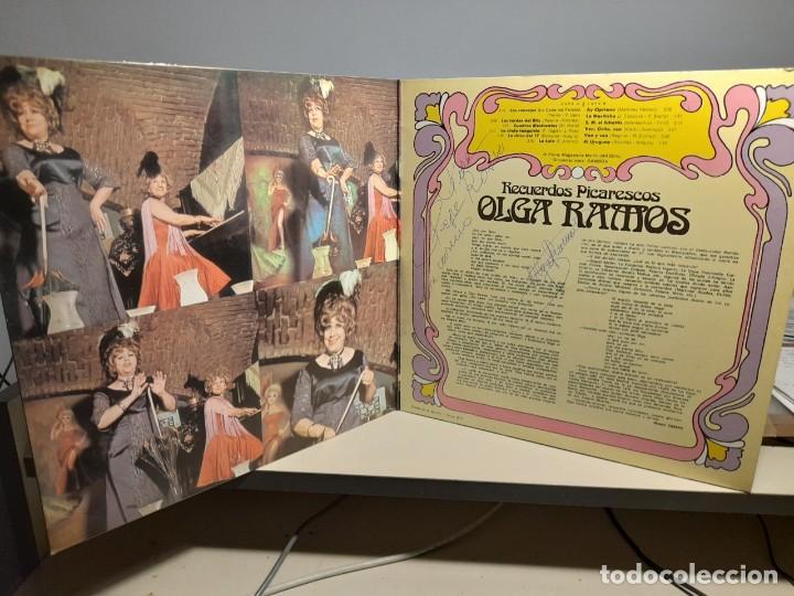 Discos de vinilo: LP OLGA RAMOS : RECUERDOS PICARESCOS ( CON DEDICATORIO FIRMADA POR LA ARTISTA ) - Foto 3 - 254968980