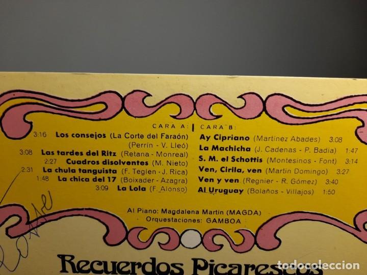 Discos de vinilo: LP OLGA RAMOS : RECUERDOS PICARESCOS ( CON DEDICATORIO FIRMADA POR LA ARTISTA ) - Foto 5 - 254968980